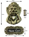 Cabeça de leão de Bronze chinês antigo alça batedor lidar besta unicórnio ( tamanhos : 165 mm * 103 mm, Tamanho : 85 mm * 95 mm )
