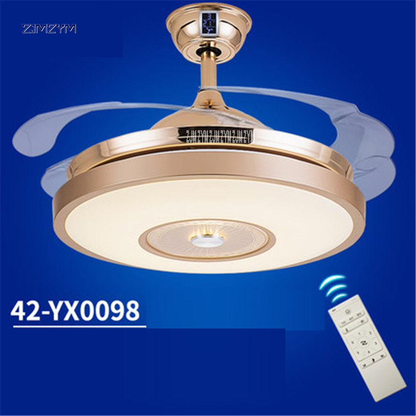 Lights & Lighting 42 Inch Modern Invisible Fan Lights Acrylic Leaf Led Ceiling Fans 110v-220v Wireless Remote Control Ceiling Fan Light 42-yx0098