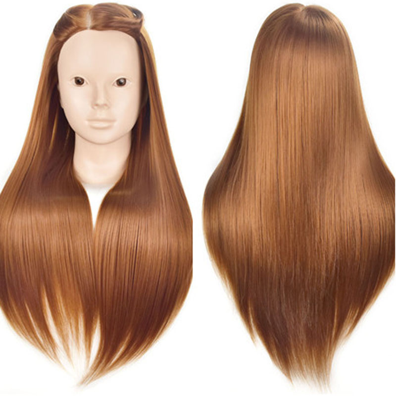 Hot Sell Female 26 Hairstyles Training Head Hairdresseres Mannequin Head With Free Clamp Practice Makeup Wig Manikin Doll Heads female 45cm professional hairstyling training head real human hair mannequin hairstyles model manikin wig dolls with clamp