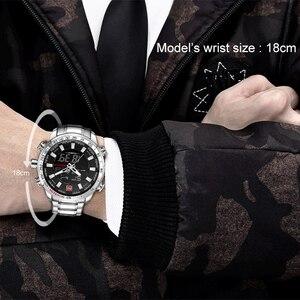 Image 5 - Naviforce トップブランド男性ミリタリースポーツ腕時計メンズ led アナログデジタル腕時計男性軍ステンレスクォーツ時計レロジオ masculino