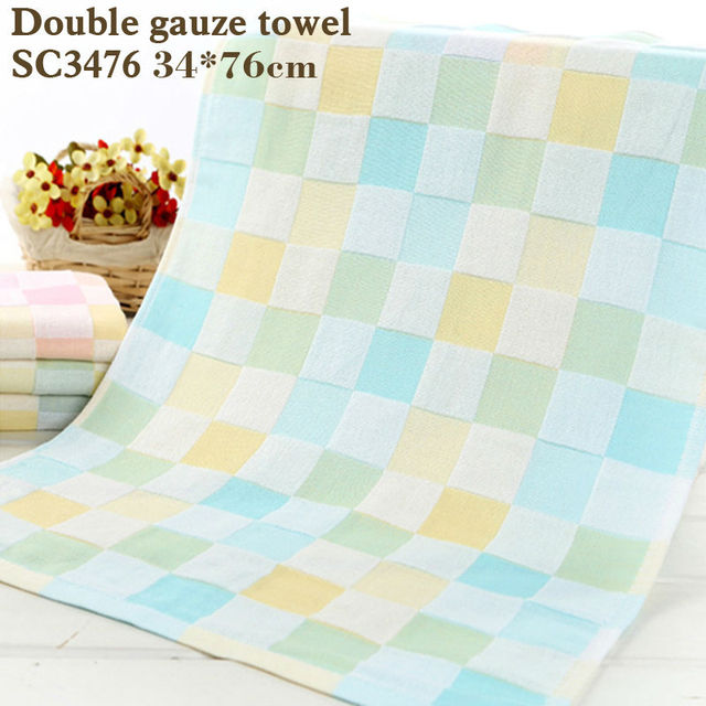 cotton bath towel double gauze squares printed baby towelThin section easy to dry Don't wash cotton terry towel towel baby slobb
