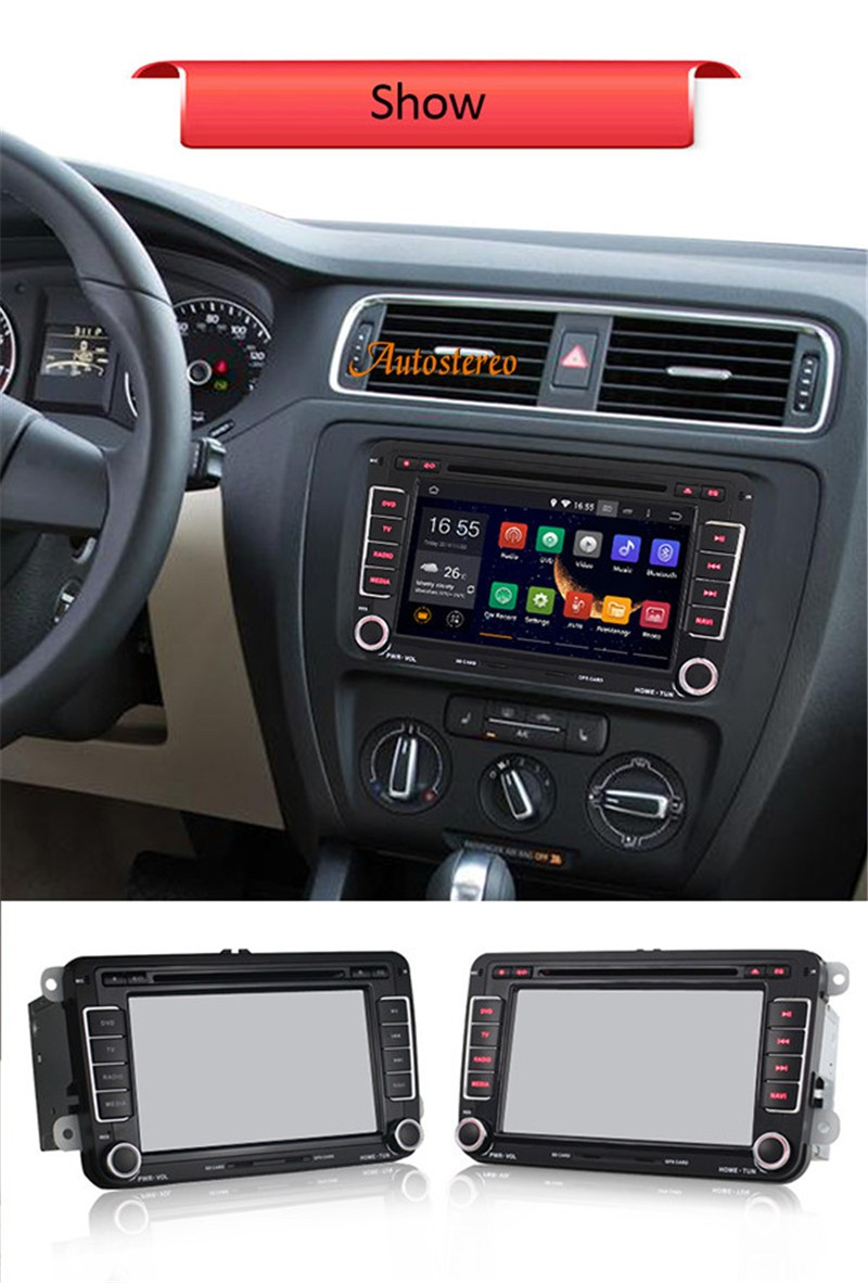 Quad-core Car DVD Player car GPS Navigation for VW JETTA PASSAT/B6/CC GOLF 5/6 POLO Touran Tiguan SEAT multimedia video player joying px5 octa 8 core 2gb ram android 8 0 car radio player for vw golf 5 6 polo passat jetta tiguan touran eos gps navigation