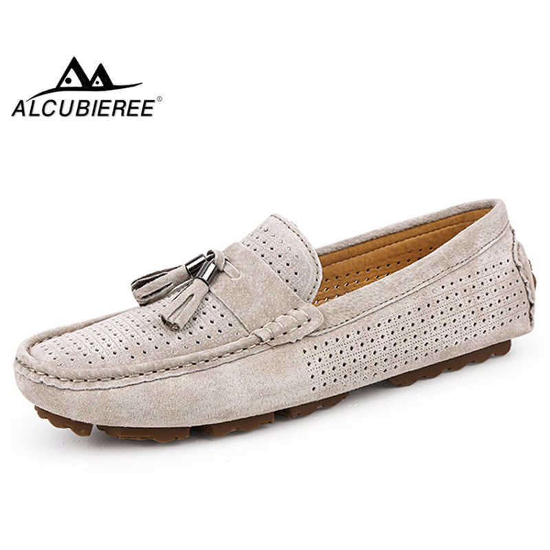 825f59d4a25 Detail Feedback Questions about ALCUBIEREE Brand Mens Stylish Tassel Loafers  Comfort Lightweight Driving Shoes Breathable Moccasins Boat Shoes Big Size  45 ...
