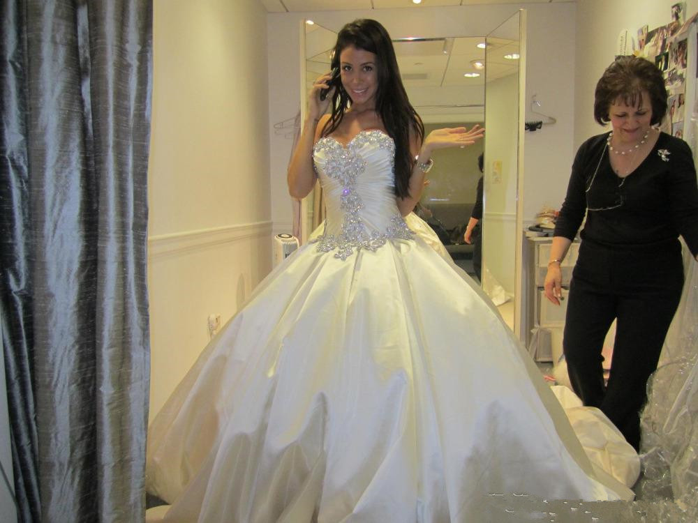 Crystal 2017 Pnina T Ball Gown Princess Wedding Dress