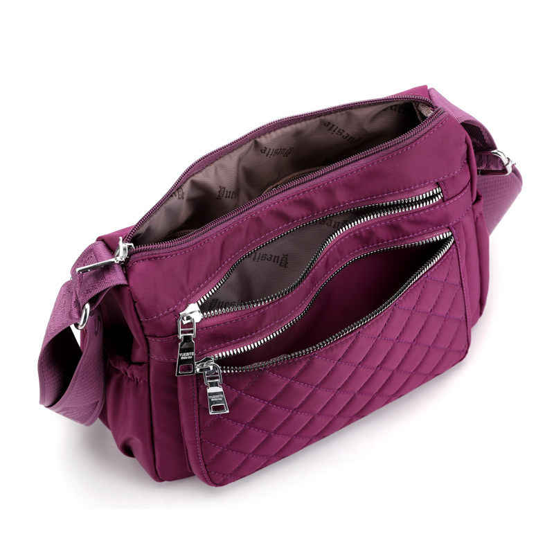 2019 nova moda à prova dwaterproof água náilon marca feminina sacos de ombro de alta qualidade crossbody saco para as mulheres casual thread messenger bags