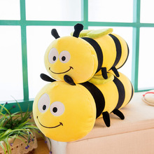 Plush Creative Software Cartoon Bee Toys Soft Cute Pillow Super Soft Stuffed Animal Honeybee Doll Best Gift For Kids Friend Baby plush ocean cartoon shark toys soft cute pillow super soft stuffed animal shark dolls best gifts for kids friend baby 21