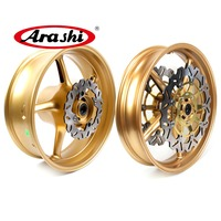Arashi Street Triple 675R Wheel Rim Rear Rims Set Brake Rotors For Triumph Street Triple675R 2009 2012 2010 2011 675 Daytona