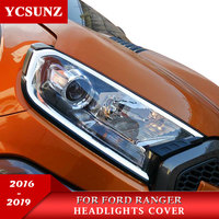Acessórios do carro faróis capa sem luz para ford ranger t7 t8 wildtrak endeavour everest 2016 2019 2020|Cúpulas p/ abajur| |  -