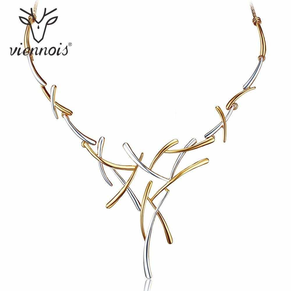 Viennois argent/or/pistolet couleur métallique colliers croix déclaration Style Punk femme fête colliers pour femmes bijoux fantaisie