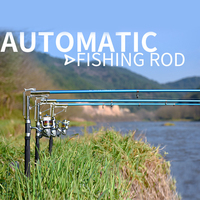 2.1m 2.4m 2.7m stainless steel automatic fishing rod spinning telescopic automatic spring sea fishing rod