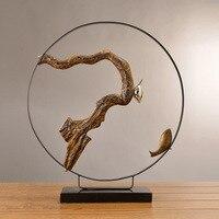 Вход Украшение стола код гладить работа китайский дзен Тип птица ремесло Гостиная украшения бытовых смолы ремесла орнамент