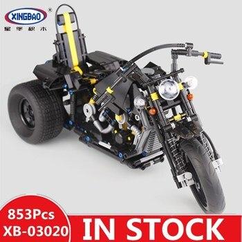 H&HXY XB03020 Genuine 853Pcs Car Series The Heavy Motorcycle Set Building Blocks Bricks Educational Kids Toys As Christmas Gift