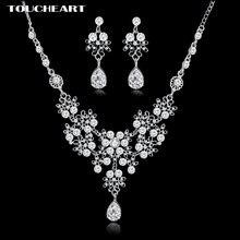 Модные наборы ювелирных изделий toucheart с кристаллами свадебные
