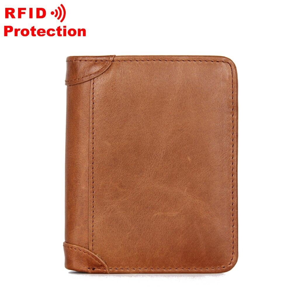 Carteira masculina carteira de couro genuíno billetera hombre carteira masculina fina pequena carteira rfid designer de luxo curto carteiras