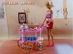 Image 5 - Free Shipping girl play set Pink cake car tea time 1/6 doll accessories doll furniture for barbie doll