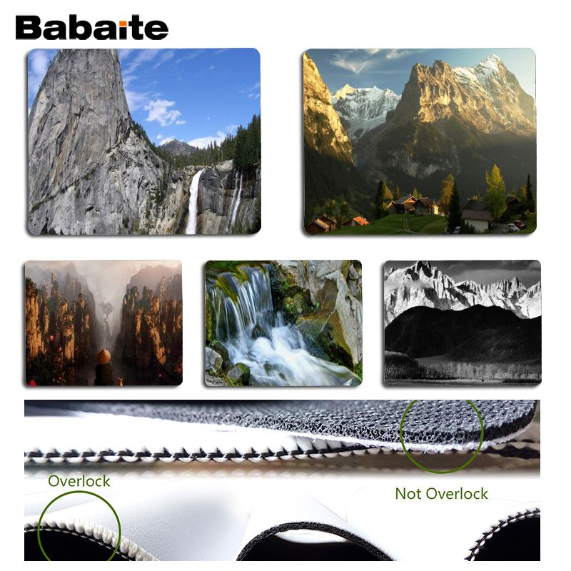 Babaite My Favorite Mount Waterfall Durable Rubber Mouse Mat Pad Size for 18x22cm 25x29c ...