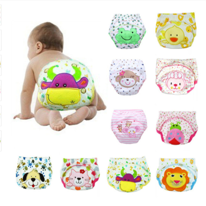 1 Pcs Baby Boys Girls Washable Diapers Cute Cloth New Reusable Diapers Nappies Cotton Training Panties Diapers