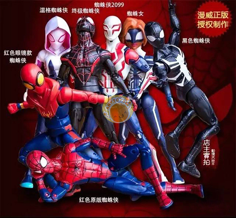 2019 Disney Marvel New Spiderman Toys 7 Inches 20 Mobile Joints