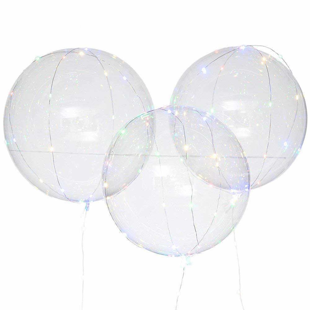 2019 cumpleaños soporte de globos globo soporte de columna fiesta en casa LED confeti soporte para globos Decoración de mesa de boda Ballon Holder