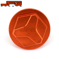 Rear Brake Cylinder Fluid Reservoir Aluminum Orange CNC Cap For KTM SXF SX EXC EXCF 125