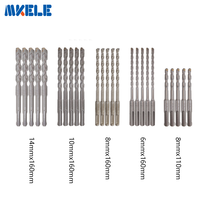High Quality 25Pcs/Set bits Twist Drill Bit For Metal 40CR Chrome-vanadium Steel Drilling Woodworking Tools 6/8/10/14mm 13pcs lot hss high speed steel drill bit set 1 4 hex shank 1 5 6 5mm free shipping hss twist drill bits set for power tools