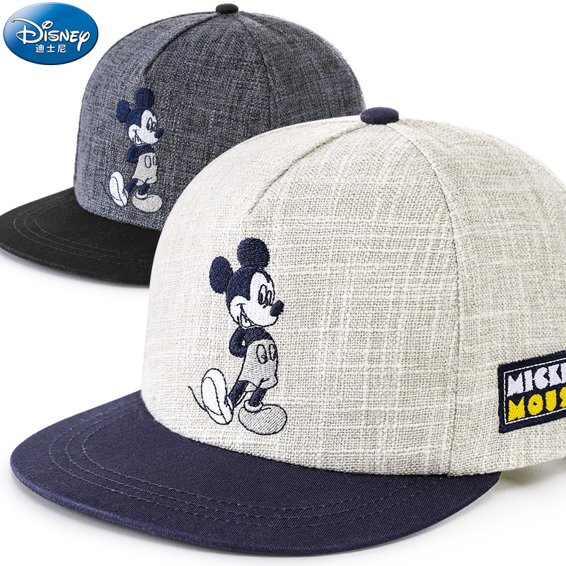 Disney children hat mickey mouse cap fashion cartoon kids hat outdoor wear cotton Adjustable breathable Visor Shade Baseball cap trendy cotton fedora hat cap black