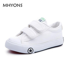Enfants shoes pour fille enfants toile shoes garçons bonbons couleur lacets 2017 printemps automne blanc sneakers enfants unique shoes filles