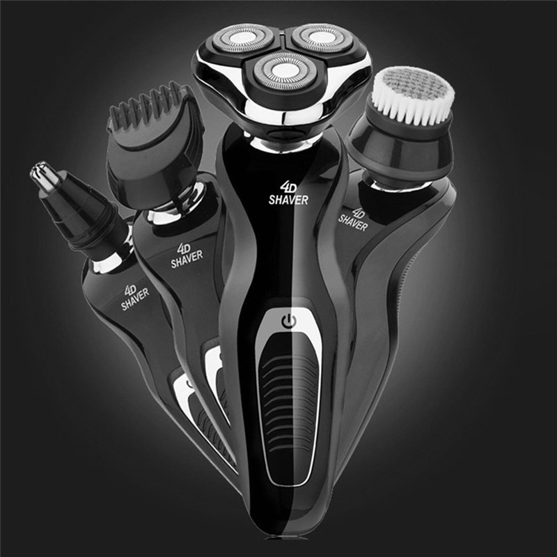 Electric Rotary Shavers For Men The Best 4 In 1 Cordless Waterproof Razor Nose,Ear Hair,Sideburns Trimmer Set Wet & Dry and Wash finger in the nose 1245485