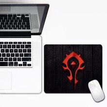 Alliance Horde 30×25 см Коврик для мыши Wow Блокировка края скоростная игра геймер игровой коврик для мыши маленький размер для ноутбука коврик для мыши