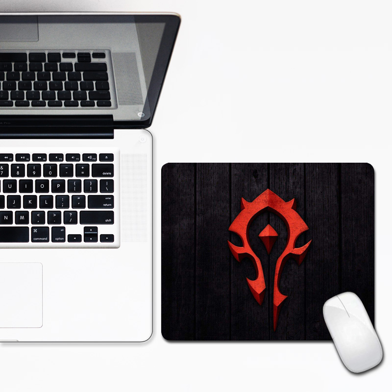 Alliance Horde 30x25cm Mouse Pad Wow Warcraft  Locking Edge  Gaming Mousepad Gamer Small Size Rubber Durable Laptop Computer Mat