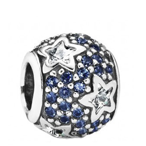 Jewelry & Accessories Fashion Jewelry Beads Real 925 Sterling Silver Blue Crystal Love Hearts Charms Fit Pandor a Charm Bracelet