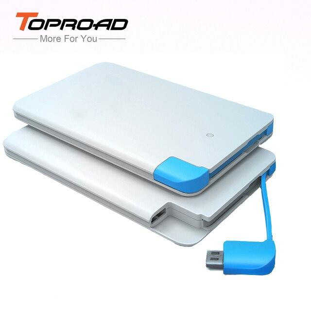 Ultra Thin Powerbank 2600mah Portable Charger Backup External