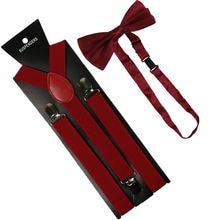 Подтяжки и галстук бабочка для женщин Однотонные эластичные