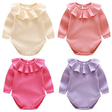bee7d4e51 Autumn 2018 Baby Rompers Cotton Baby Boy Clothes New Long Sleeve Knitted  Ruffles Baby Girl Clothes