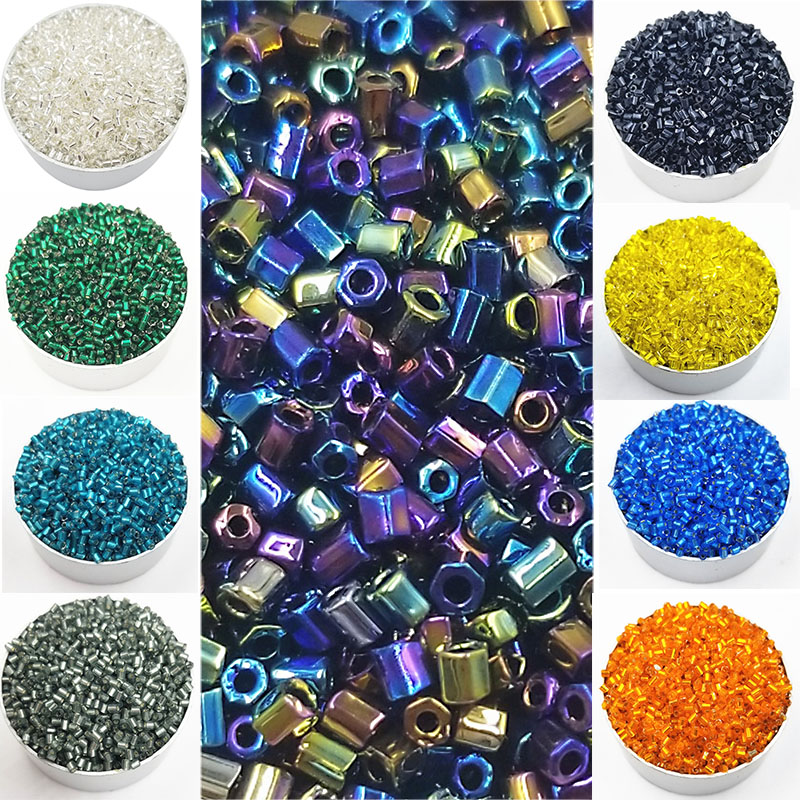 Beads & Jewelry Making Beads Efficient Hot Sale 1000pcs/pack 18 Colors Cylindrical Glass Diameter 2mm Diy For Necklace Bracelets Loose Beads