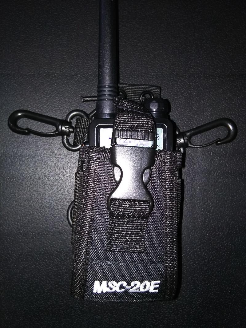 Image 2 - MSC 20E Walkie talkie bag&Nylon Radio Case Holster for handheld Baofeng UV 5R B5 walkie talkie radio holder bag-in Walkie Talkie from Cellphones & Telecommunications