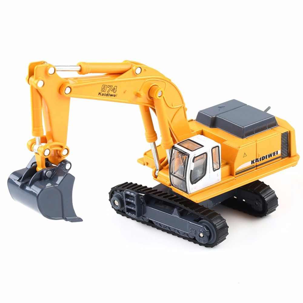 1:87 KAIDIWEI Diecast Excavator Construction Equipment Model Kids Toys Gift  1/87 HO Scale