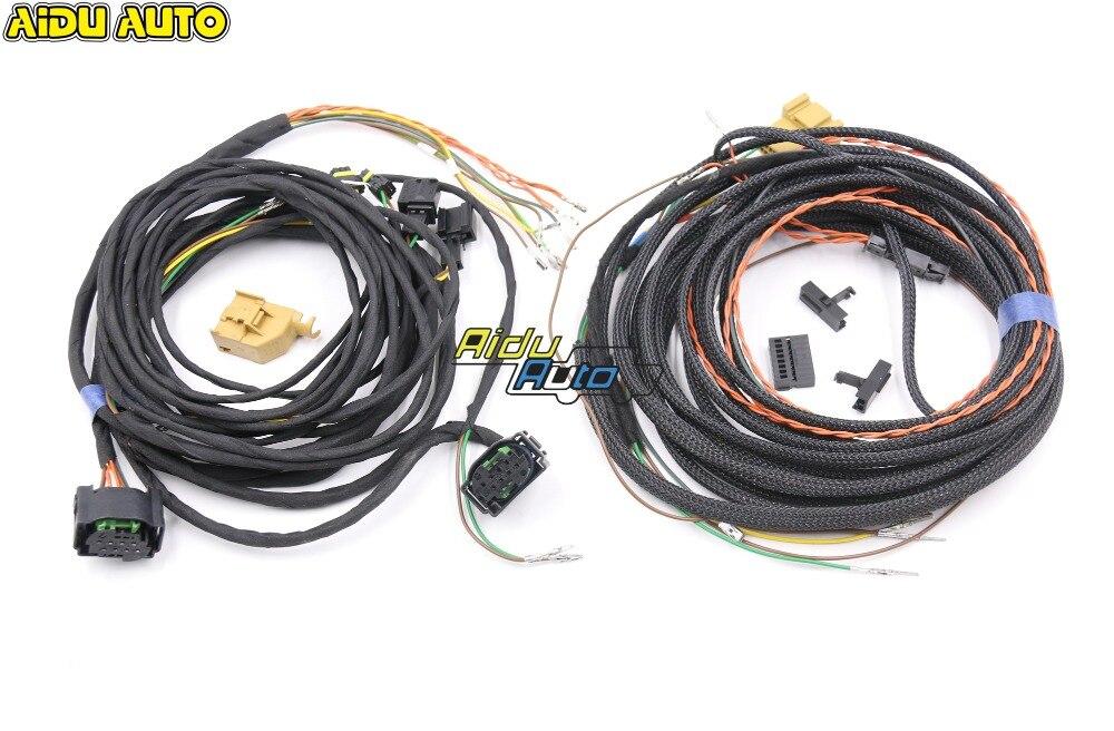 AIDUAUTO Side Assist Lane Change Wire Cable Harness For VW Passat B8 Tiguan MK2