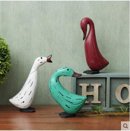 Pays d'amérique style artisanat de canard, en bois animaux, canard forme, maison décoration, cadeaux créatifs