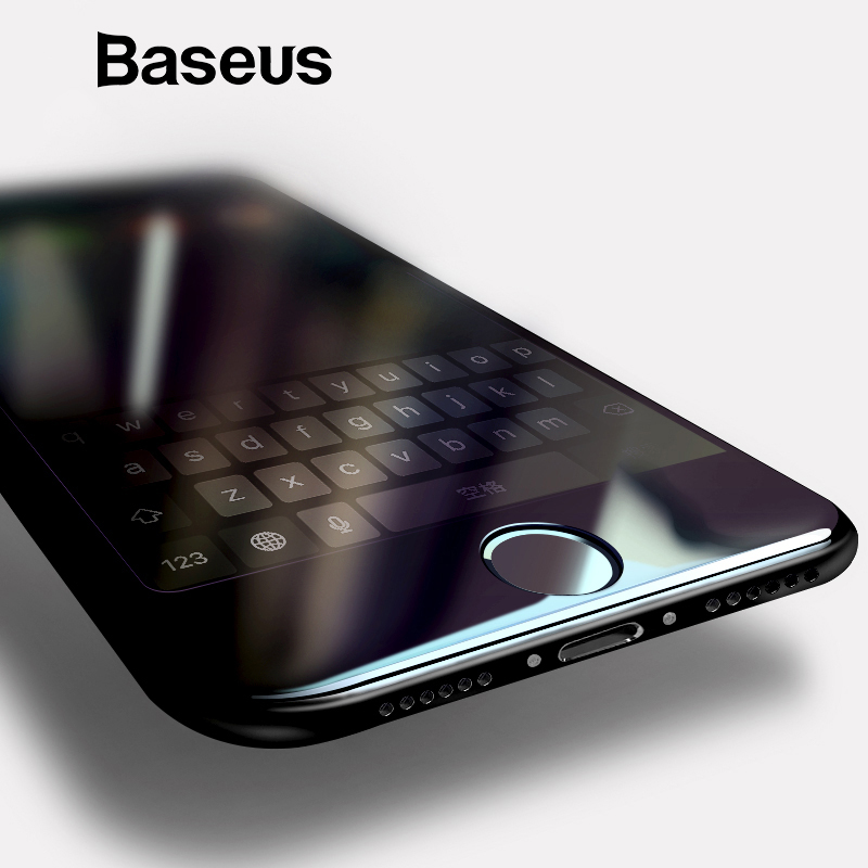 Baseus 0,2mm vidrio templado de la pantalla completa para el iPhone 8 7 delantera para iPhone 7 Plus 8 protectora vidrio