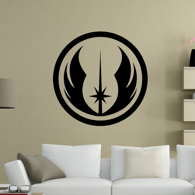 Personality Jedi Order Symbol Star Wars Wall Art Wall Sticker Vinyl Decal  Self Adhesive Room Door