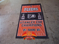 Flyers Football Clubhouse Banner Free Shipping 100 Polyester 90 150cm Light High Grade Fabrics Digital Printing