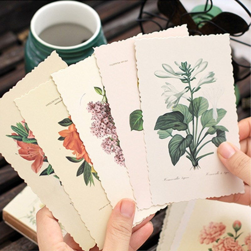 30Pcs/lot Cute Flowers Postcard Set Greeting Card Envelope Gift Greeting Card Wish Card New Year Gifts(China)