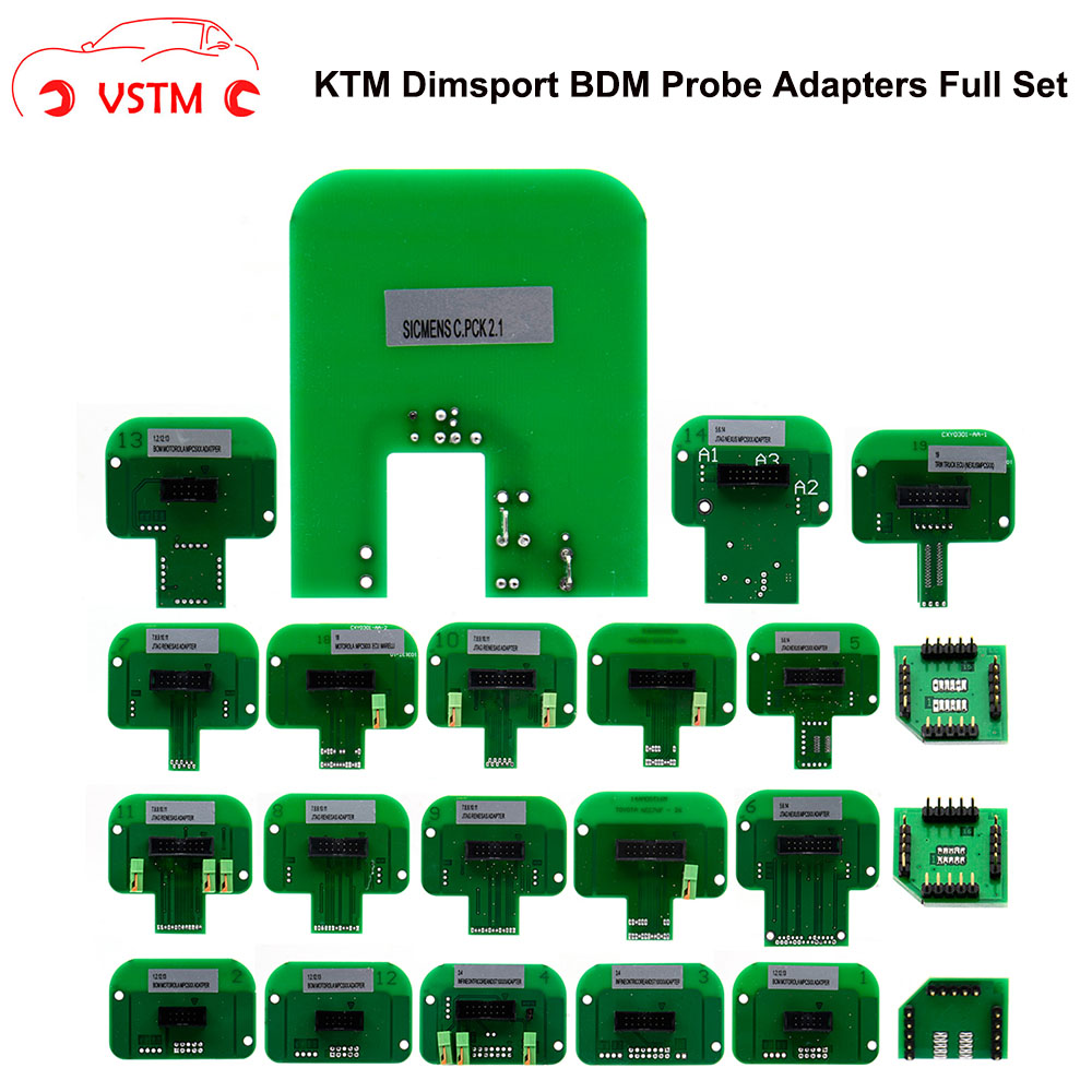 VSTM 22pcs/set KTAG KESS KTM Dimsport BDM Probe Adapters LED BDM Frame ECU RAMP KTM Dimsport Probe Adapters