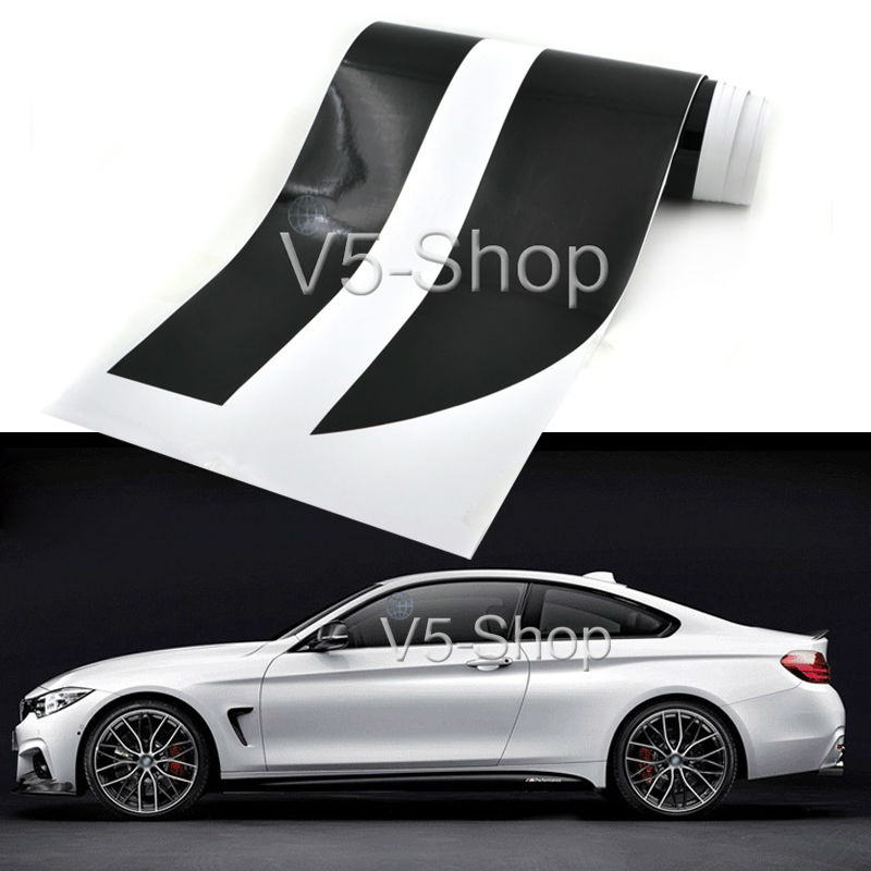 2x 85inch M Performance Side Skirt Stripe Car Sticker Body