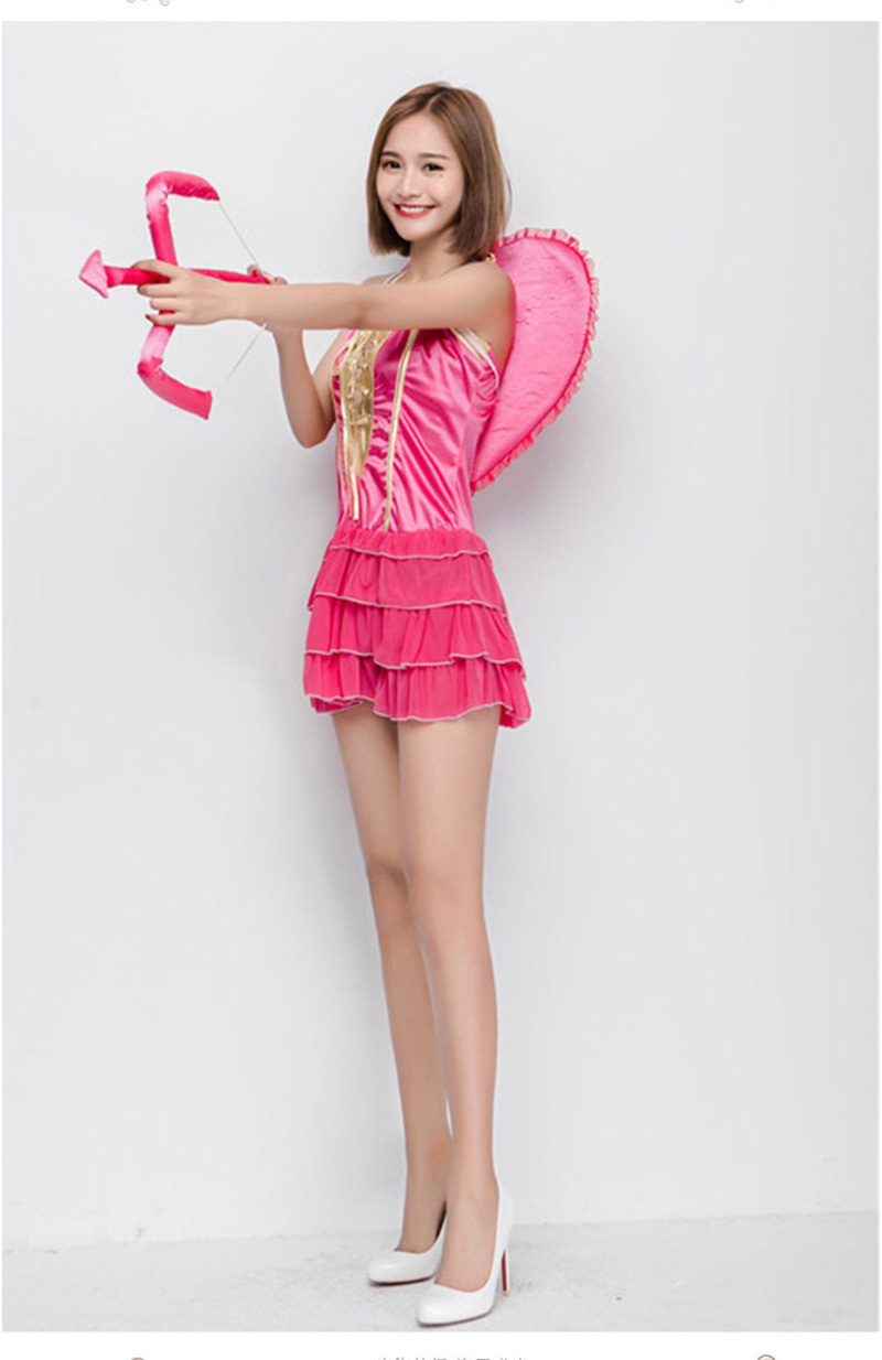 Halloween Female Women Cupid Costume Naughty Pink Layered Outfit Short Sweet Tiered Dress Fancy Clothing Wing Set For Teen Girls on Aliexpress.com | Alibaba ...  sc 1 st  AliExpress.com & Halloween Female Women Cupid Costume Naughty Pink Layered Outfit ...