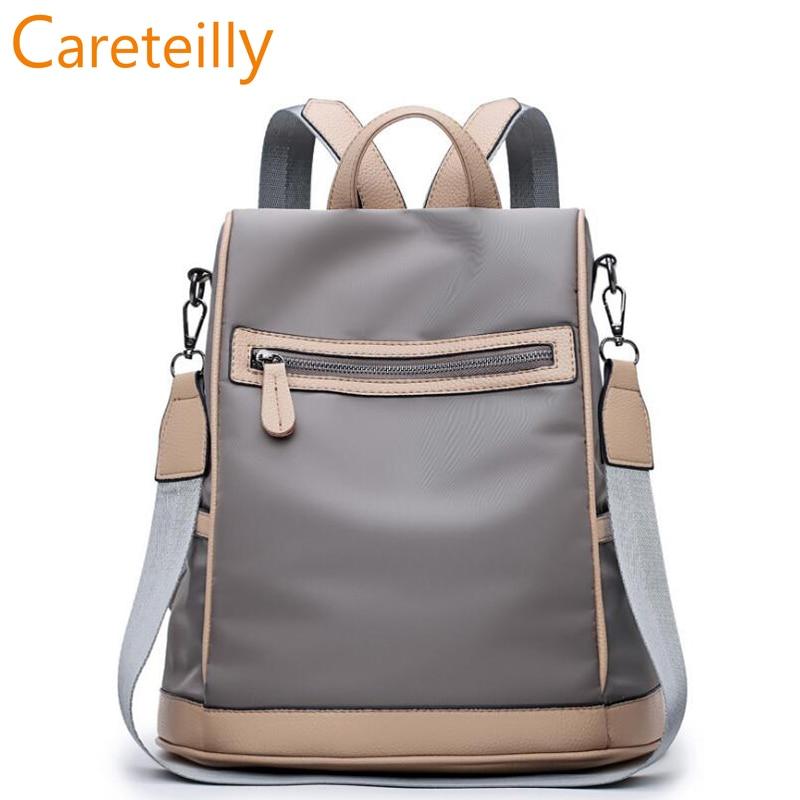 Nylon backpack Office Work Backpack Urban Casual School Bag Travel Backpacks For Women коврики автомобильные autoprofi универсальные с бортом комплект 4 предмета пвх чёрные mat 150 bk