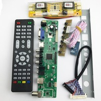 TSUMV56RUUL Z1 Universal LCD TV Controller Driver Board PC VGA HDMI USB Interface 4 Lamp Inverter