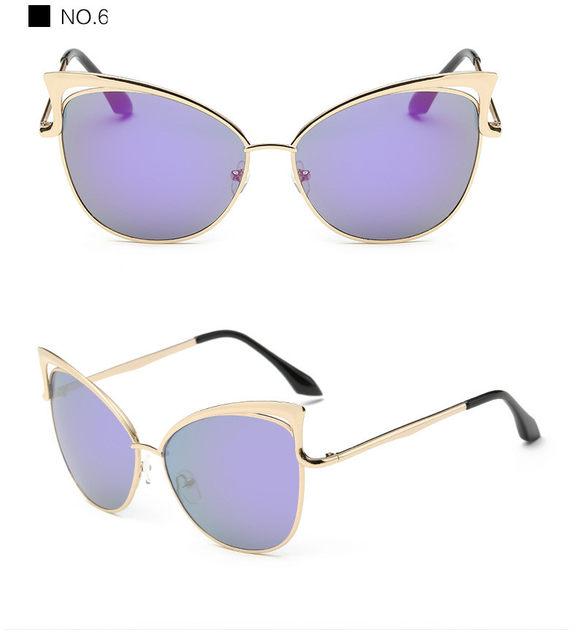 Luxury Cat Eye Sunglasses Women Brand Designer Retro Vintage Sun Glasses For Women Female Ladies Sunglass Mirror Lunettes Oculos (17)