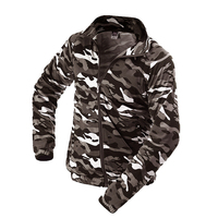 Men S Army Military Camouflage Windbreaker Jacket Male Stand Collar Long Sleeves Men Bomber Jackets Thick